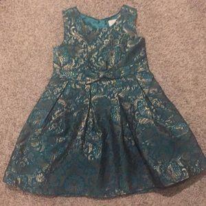 Girls green children's place dress 5t
